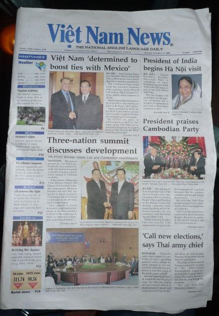 Viet Nam News Frontpage