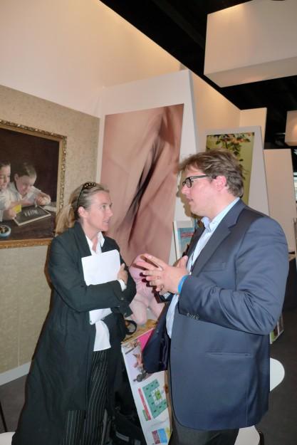 Gipfeltreffen im Umelec-Salon: Barbara Higgs & James Koch