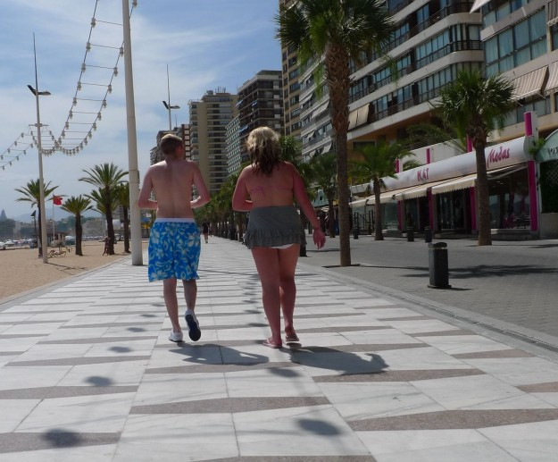 Eingenwilliges Styling in Benidorm