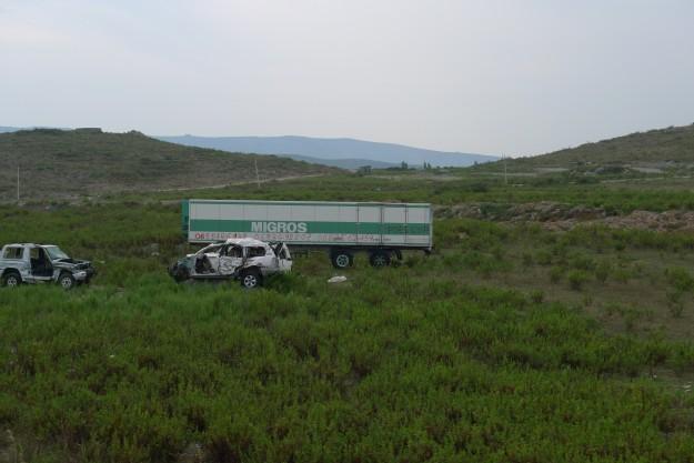 Ein toter Migros-Anhänger nach der montengrinischen Grenze