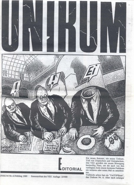 Titelblatt mit Zeichnung von Andrea Caprez