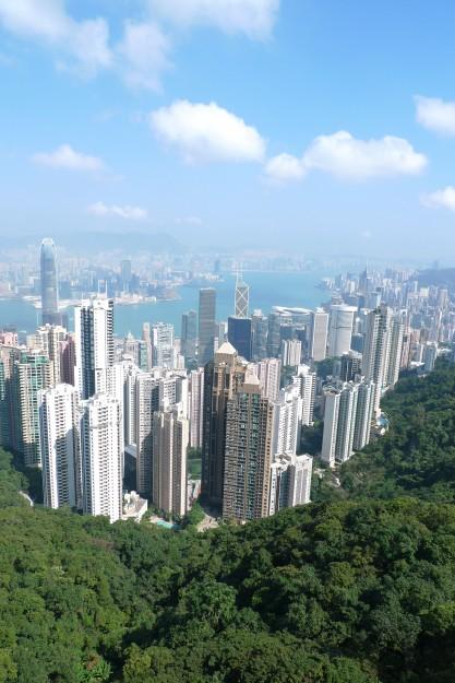 Richgit Natur und richtig Stadt: Hong Kong