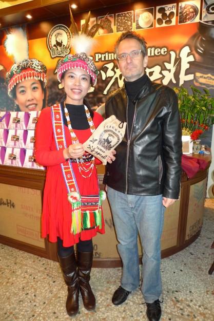Foto mit der Chefin und Marken-Verkörperung Princess Coffee