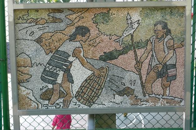 Wandmalereien und Mosaike sind in Osttaiwan omnipräsent.