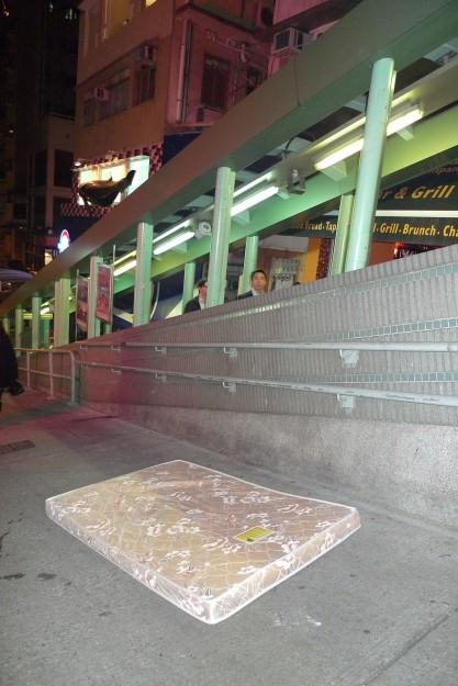 Hong Kong, Rolltreppe Soho und verlassene Matratze