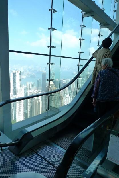 Hoch oben in Hong Kong